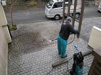 高圧洗浄 石畳